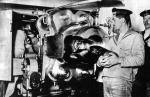 """Wnętrze wieży działowej  na pokładzie SMS """"Prinz Eugen"""""""