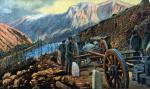 Żołnierze austro-węgierscy na zdobytej górze Lovčen koło Cattaro, pocztówka, 1915 r.