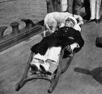 """Horthy ranny w bitwie w cieśninie Otranto na pokładzie SMS """"Novara"""", 1917 r."""