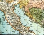 Mapa Adriatyku z początku XX wieku
