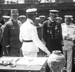 "Cesarz Karol I na pokładzie SMS ""Viribus Unitis"", 1917 r."