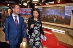 Szefowa Russia Today Margarita Simonyan oprowadza prezydenta Miedwiediewa po waszyngtońskiej siedzibie stacji (fot. Dmitry Astakhov)
