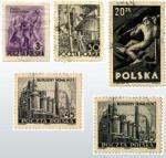 Seria znaczków  pocztowych  propagujących  przyjętą w 1952 roku Konstytucję PRL,  elektryfikację wsi,  górnictwo oraz  budowę Nowej Huty