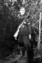"""Franciszek  Adamkiewicz """"Piorun""""  z oddziału """"Trzynastki"""", poległ 22 lipca 1945 r.  w walce z NKWD w Lipie"""