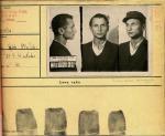 """Kpt. Stanisław  Sojczyński """"Warszyc"""", organizator i komendant Konspiracyjnego Wojska Polskiego, fot. wykonana po aresztowaniu przez UB (+ 19 II 1947 r.)"""