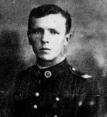 """Por. Jan Rogulka """"Grot"""", dowódca Obwodu Piotrków Trybunalski KWP krypt.  """"Żniwiarka"""". Dowódca  operacji odbicia więźniów  w Radomsku, zamordowany 10 V 1946 r. wraz z 11  podkomendnymi w PUBP  w Radomsku"""