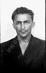 """Plut. Marian Kil  """"Własow"""", fotografia  wykonana  po aresztowaniu przez GZI LWP (+ 19 II 1947 r.)"""