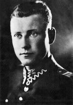 """Por./kpt. Henryk Glapiński """"Klinga"""", dowódca oddziału SOS """"Warszawa"""", odniósł  wiele zwycięstw  w walkach z oddziałami UB-KBW (+ 19 II 1947 r.)"""