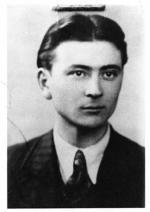 """Por. Alfons Olejnik """"Babinicz"""", dowódca oddziału SOS  """"Jastrzębie"""", """"Oświęcim"""" (18 I 1947 r.)"""