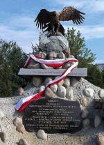 """Pomnik  kpt. """"Warszyca""""  i poległych oraz  zamordowanych  przez komunistów  żołnierzy KWP"""