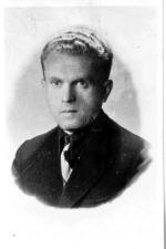 """Jan Tabortowski """"Bruzda"""". Zdjęcie wykonane po ujawnieniu się w 1947 r."""