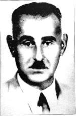 """Kapitan Stanisław  Cieślewski """"Lipiec"""",  komendant Obwodu Łomża, AK, dowódca  33. pułku piechoty AK, ukrywał się z """"Bruzdą"""" do 1952 r. Poległ w walce z grupą operacyjną UB-KBW 27 sierpnia 1952 r. we wsi Grądy Małe, pow. Łomża"""