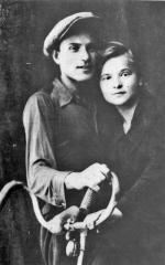 """Jan Leonowicz """"Burta"""" z żoną Marią, 1937 r."""