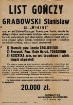 List gończy  za Stanisławem  Grabowskim