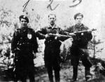 """Patrol NZW """"Wiarusa"""" – Stanisław Grabowski pierwszy z lewej"""