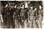 """Żołnierze PAS XV Okręgu NZW, od lewej NN """"Śmiały"""", ppor. Henryk Jastrzębski """"Zbych"""", por. Tadeusz Narkiewicz """"Ciemny"""", NN """"Szczerba"""" i ppor. Jan Skowroński """"Cygan"""""""