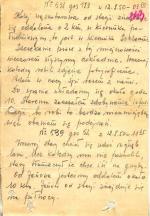 """Treść meldunku  z 12 sierpnia 1950 r. wysłana przez radiotelegrafistę obsługującego radiostację ochranianą przez oddział Adama  Kusza """"Garbatego"""""""