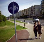 Ścieżka rowerowa o długości... kilku metrów