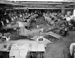 Produkcja amerykańskich myśliwców pokładowych Grumman F4F Wildcat,1942 r.