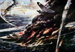 Bitwa na Morzu Koralowym, rys. Robert Benney