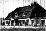 """Ostatni dworek w centrum miasta, czyli dom zwany """"Pod filarkami"""". Stał przy Marszałkowskiej  do 1890 r."""