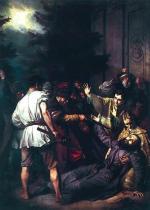 """""""Męczeństwo Jozafata Kuncewicza"""" (obraz Józefa Simmlera,  1866 - 1867)"""