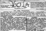 """""""I listy piszę jej ulotne na  czarnych bębnach powielaczy..."""" – pierwszy numer tygodnika """"Wola"""", styczeń 1982 r."""