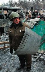 Na niektórych ulicach Kijowa nie ma już bruku: został wykorzystany przez manifestantów jako amunicja