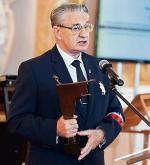 Wiceprezes Światowego Związku Żołnierzy AK Mieczysław Szostek podczas wczorajszej uroczystości w Zamku