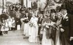Ślub hrabiego Benedykta Tyszkiewicza z księżniczką Eleonorą Radziwiłł, Morawica, 1938 r.
