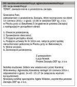 Wzór e-mailowego zawiadomienia o posiedzeniu zarządu sp. z o.o.
