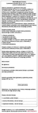 Wzór protokołu z posiedzenia zarządu sp. z o.o.