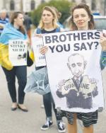 Protest w Wiedniu przeciwko wizycie rosyjskiego prezydenta Władimira Putina