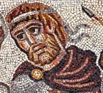 Głowa  z mozaiki  w synagodze – być może Aleksandra Wielkiego