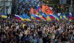 Wczorajsza demonstracja w Moskwie przeciwko wojnie na Ukrainie była najliczniejsza od marca tego roku