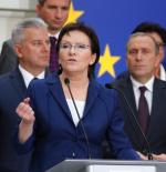 Ewa Kopacz zachowała na stanowiskach większość ministrów Donalda Tuska.  Na zdjęciu prezentacja nowego gabinetu, która odbyła się w piątek