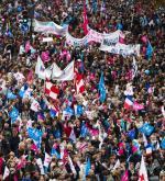 Paryska manifestacja przeciw rządowi i w obronie rodziny