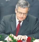Bronisław Komorowski chce wzmocnić pozycję podatników  w sporach  z urzędami skarbowymi