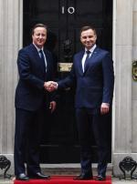 Brytyjski premier i polski prezydent na Downing Steet