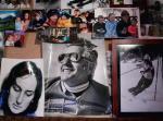 Zdjęcia nad kominkiem w rodzinnym domu Bachledów-Curusiów. W środku Andrzej Bachleda-Curuś Senior,  z prawej Jan Bachleda-Curuś