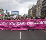 Legalizacja związków partnerskich to od wielu lat główne hasło parad równości  (na zdjęciu impreza w stolicy w 2010 r.)