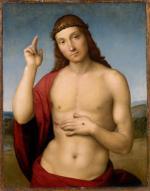 """Rafael, """"Chrystus błogosławiący"""", ok. 1505–1506, olej, deska"""