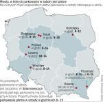 Skierniewice i Tarnobrzeg planują wprowadzić strefy płatnego parkowania. Nie ma ich w Białej Podlaskiej i Sieradzu.