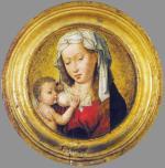 "Hans Memling, ""Matka Boska karmiąca"", 1480"