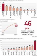 Polacy korzystają z sieci i wydają tam pieniądze