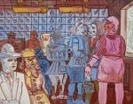 """Piękna Gallery prezentowała  ofertę na najbliższą grudniową aukcję.  Na zdjęciu obraz Edwarda Dwurnika z 1972 r. """"U rzeźnika"""""""