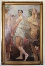 """Na wystawie pokazano obrazy Jacka Malczewskiego  z prywatnych kolekcji. Na zdjęciu """"Orfeusz i Eurydyka""""."""