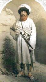 Imam Szamil (ok. 1798–1871) stał na czele Imamatu Kaukaskiego