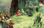 W latach 1834–1859 doszło do powstania górali kaukaskich przeciwko Rosji. Pertraktacje z Rosjanami prowadził imam Szamil.