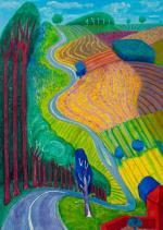 """David Hockney """"Going Up Garrowby Hill""""; 2000"""